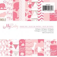 Набор бумаги My Baby Girl, Imaginisce, 15 × 15 см, 400600