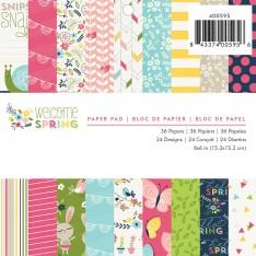 Набор бумаги Welcome Spring, Imaginisce, 15 × 15 см, 400595