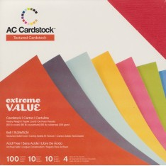 Набор картона Extreme Value Cardstock, American Crafts, 15х15 см, 366244