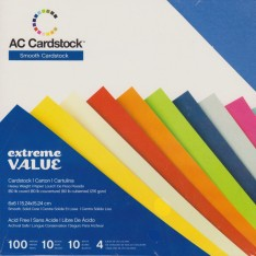 Набор картона Extreme Value Smooth Cardstock, American Crafts, 15х15 см, 366245