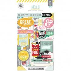 Наклейки чипбордови Hello Sunshine, Pink Paislee, PP01251