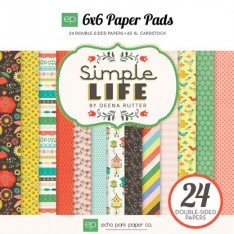 Набор бумаги Simple Life, 15х15см, Echo Park, SL68023
