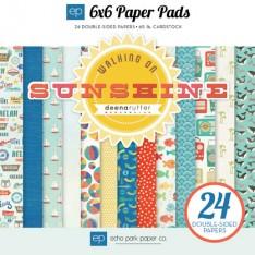Набор бумаги Walking On Sunshine, 15х15см, Echo Park, WS67023