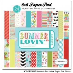 Набор бумаги Summer Lovin ', 15х15см, Carta Bella, CBSU28015