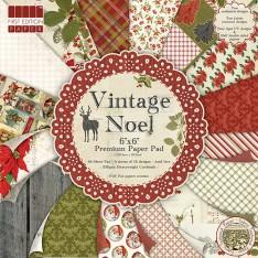 Набор бумаги Vintage Noel, 15 × 15 см, First Edition, FEXPAD24