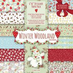 Набор бумаги Winter Woodland, 15х15 см, Helz Cuppleditch, HCXDP13