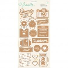 Наклейки пробковые Shimelle, American Crafts, 368167
