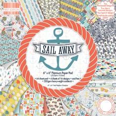 Набор бумаги Sail Away, 15 × 15 см, First Edition, FEPAD086