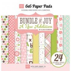 Набор бумаги Bundle of Joy New Addition Girl, 15х15см, Echo Park, BJGT79023
