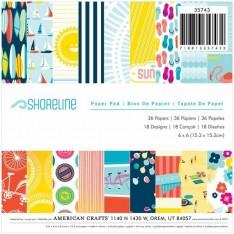 Набор бумаги Shoreline, American Crafts, 15х15 см, 35743