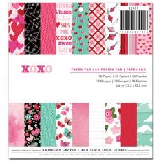 Набор бумаги XOXO, American Crafts, 15х15 см, 35901