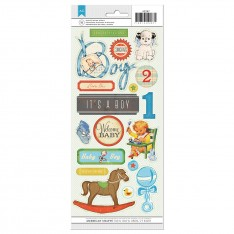 Прозрачные наклейки Baby Boy, Crate Paper, 42287