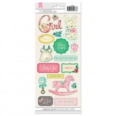 Прозрачные наклейки Baby Girl, Crate Paper, 42288