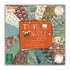 Набор бумаги Travel Notes, 15 × 15 см, First Edition, FEPAD106
