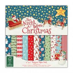 Набор бумаги The Night Before Christmas, 15x15 см, Helz Cuppleditch, HCPAP003X15