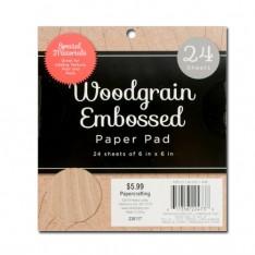 Набор бумаги / дерева Woodgrain Embossed, 15х15 см, DCWV, MS-019-00148