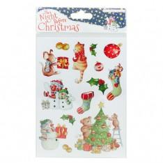 Наклейки с блестками The Night Before Christmas, Helz Cuppleditch, HCSTK001X15