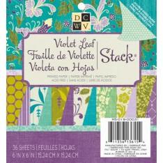 Набор бумаги Violet Leaf, 15х15 см, DCWV, MS-019-00031