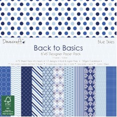 Набор бумаги Back To Basics Blue Skies, 15 × 15 см, Dovecraft, DCPAP033