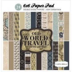 Набор бумаги Old World Travel, 15х15см, Carta Bella, CBOWT53015