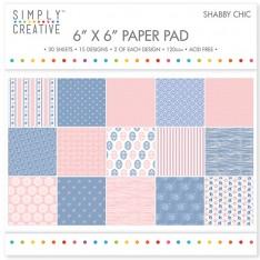 Набор бумаги Shabby Chic, 15х15 см, Simply Creative, SCPAD024
