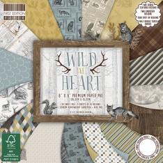 Набор бумаги Wild At Heart, 15 × 15 см, First Edition, FEPAD136