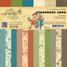 Набор бумаги Children's Hour Patterns & Solids, 15х15 см, Graphic 45, 4501247