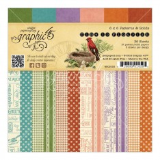 Набор бумаги Time to Flourish Patterns & Solids, 15х15 см, Graphic 45, 4501053