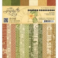 Набор бумаги Safari Adventure Patterns & Solids, 15х15 см, Graphic 45, 4501367