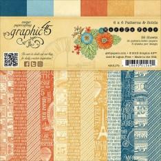 Набор бумаги World's Fair Patterns & Solids, 15х15 см, Graphic 45, 4501175