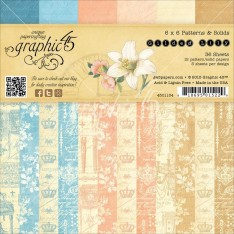 Набор бумаги Gilded Lily Patterns and Solids, 15х15 см, Graphic 45, 4501134