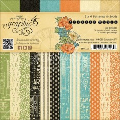 Набор бумаги Artisan Style Patterns & Solids, 15х15 см, Graphic 45, 4501112