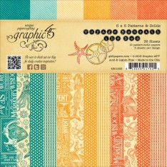 Набор бумаги Voyage Beneath the Sea Patterns & Solids, 15х15 см, Graphic 45, 4501328