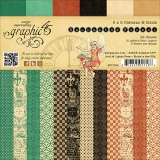 Набор бумаги Enchanted Forest Patterns & Solids, 15х15 см, Graphic 45, 4501346