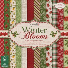 Набор бумаги Winter Blooms, 15 × 15 см, Dovecraft, DCPAP036X16