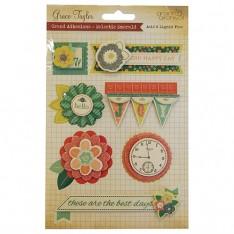 Объемные наклейки Eclectic Emerald, Grace Taylor, GS2660