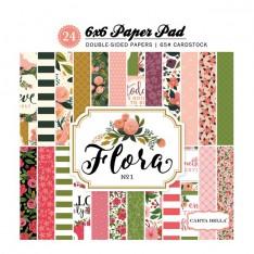 Набор бумаги Flora # 1, 15х15см, Carta Bella, CBFL62015