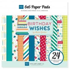 Набор бумаги Birthday Wishes Boy, 15х15см, Echo Park, BDB84023