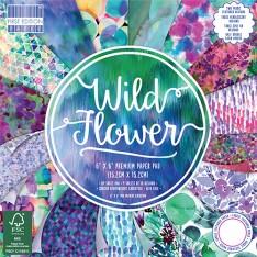 Набор бумаги Wild Flower, 15 × 15 см, First Edition, FEPAD148