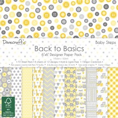 Набор бумаги Back to Basics Baby Steps, 15 × 15 см, Dovecraft, DCPAP060