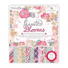 Набор премиум бумаги Painted Blooms, 15 × 15 см, Dovecraft, DCPAP051