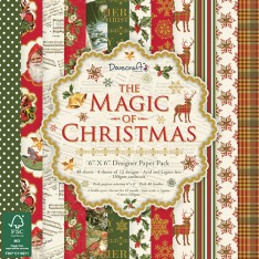 Набор бумаги The Magic of Christmas, 15 × 15 см, Dovecraft, DCPAP069X17